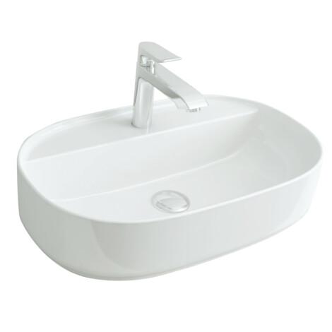 Nova Vanity: Counter Basin, White