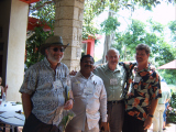 Explorer Dinesh Rawat with DR. Allen Meerow and Mr. Don Ellison and Mr. Michael Ferraro