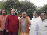 Dinesh Rawat with Tathagata Roy and Dilip Ghosh
