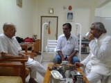Dinesh Rawat with BK Chhaya Bhai & BK Ram Swaroop Bhai