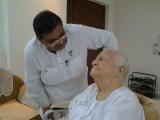 Dinesh Rawat with  Dadi Nirmal Shantaji