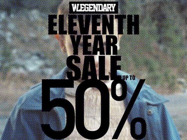 SALE ALERT: WELEGENDARY's ELEVENTH YEAR SALE