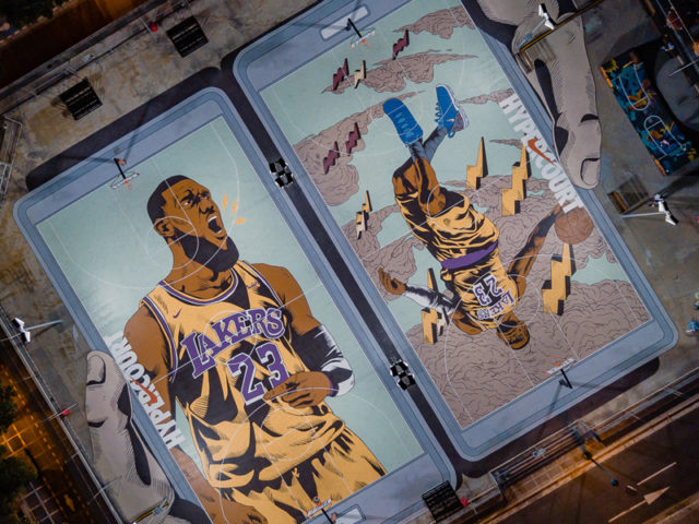 The Nike LeBron Hypercourt gets a facelift in time for the King's Return