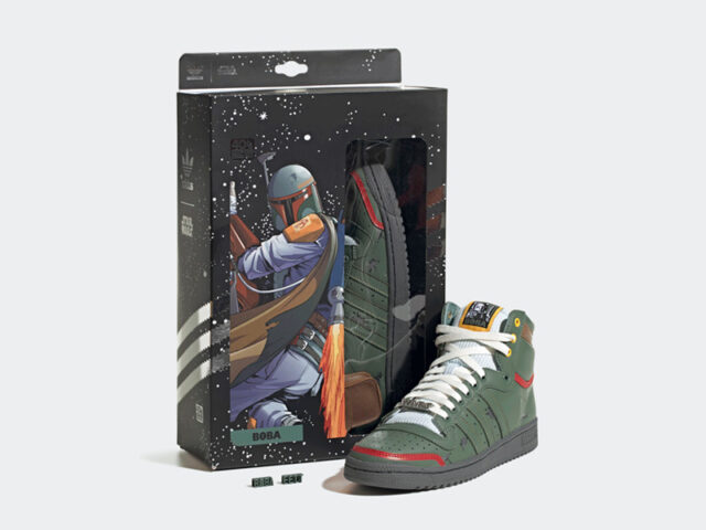 Out Now: Star Wars x adidas Top Ten Hi 'Boba Fett'