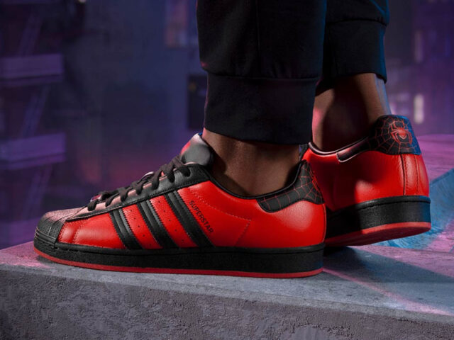 Web-Slinging into the weekend: adidas releases a Superstar for Spider-Man