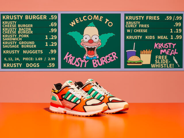 K is for Krusty Burger: adidas travels to Springfield for their latest A-ZX offering