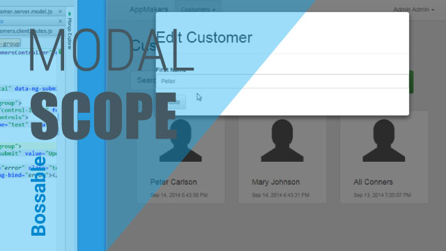 MEAN Stack – Pass Customer Details to an AngularJS UI Modal – Day 20