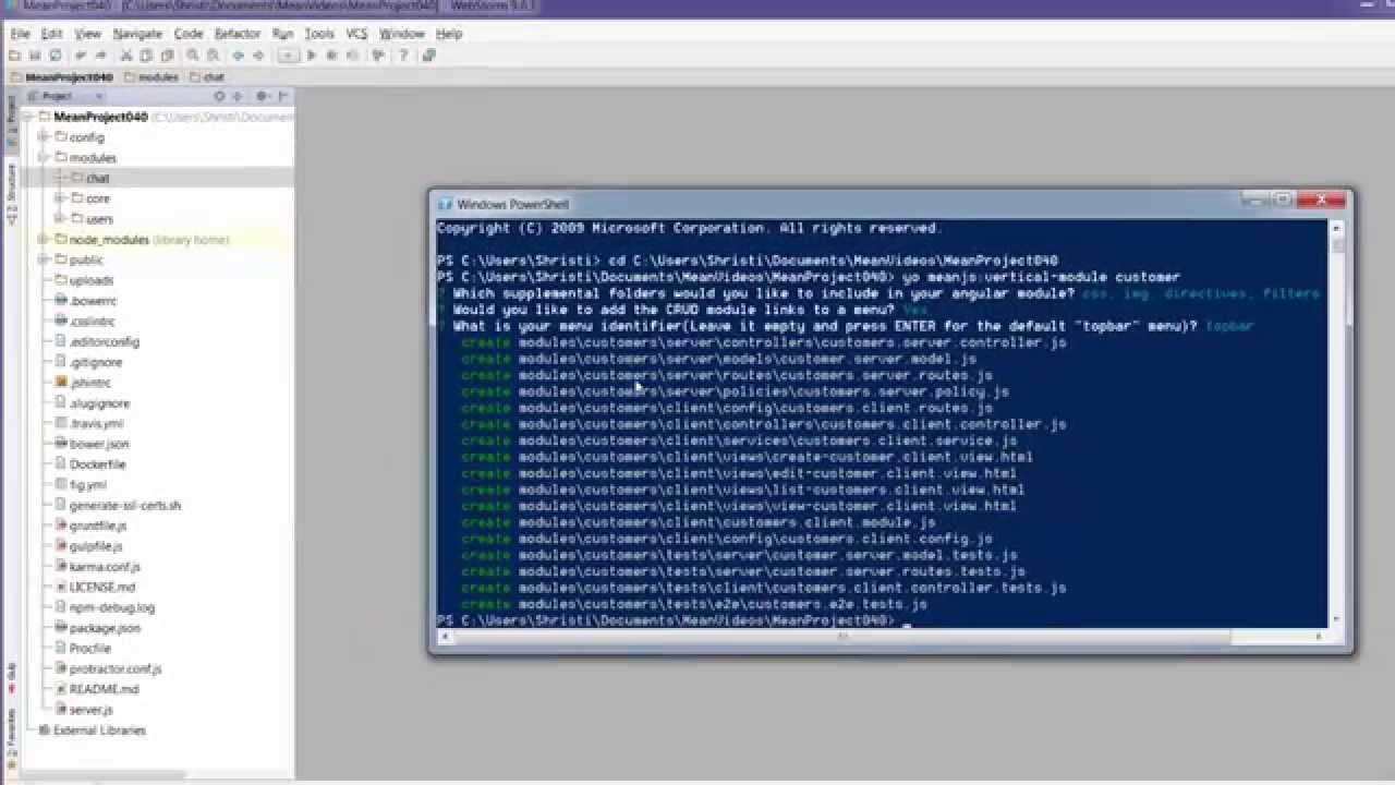 Create a vertical MEAN.js 0.4 crud module