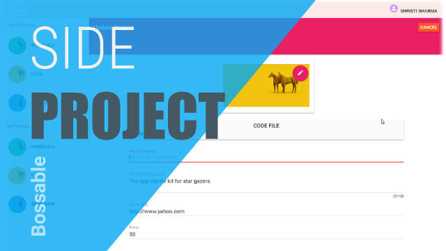 AngularJS Material Design Side Project Sneak Peak