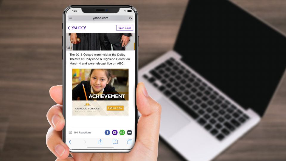 Grand Rapids Diocese catholic school mobile display ads