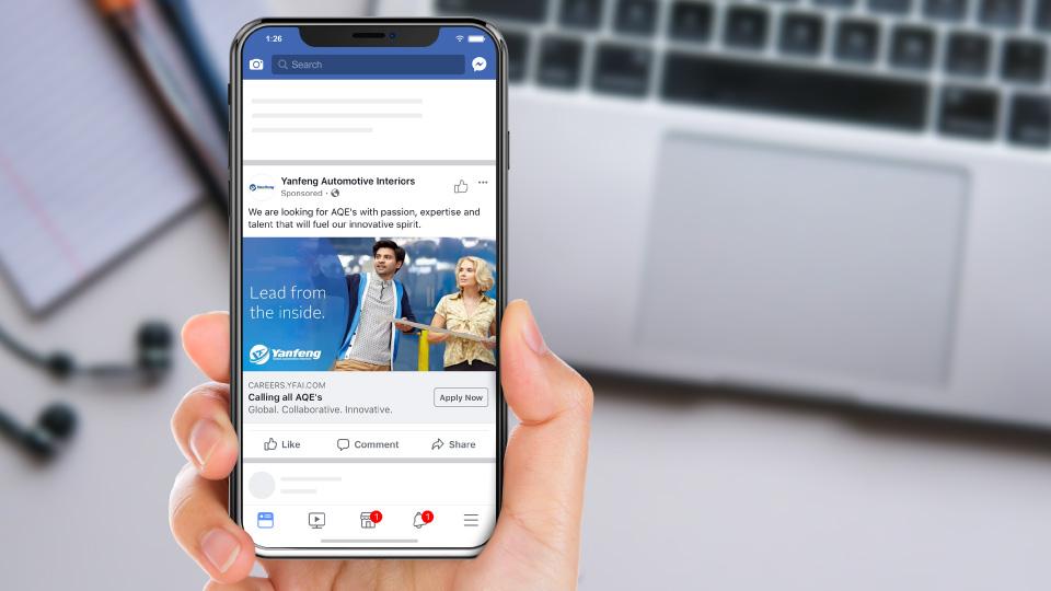 Yanfeng facebook recruitment display ad