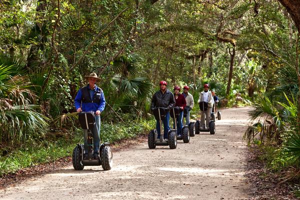 Amelia Island Segway Tour down wooded path