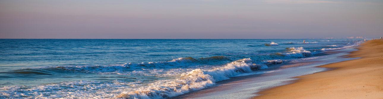 Amelia Island beach waves and sand
