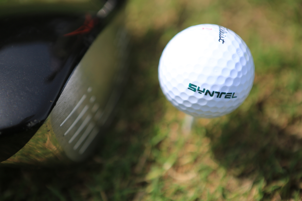 Amelia Island golfer Syntel golfball and driver on grass