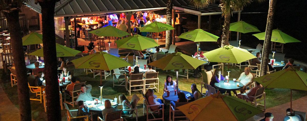 Outdoor dining at Sliders Seaside Grill Fernandina Beach