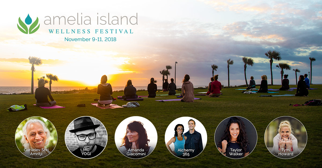 Amelia Island Wellness festival 2018 outdoor yoga class