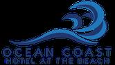 Ocean Coast Hotel Logo with blue wave