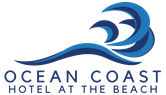 Ocean Coast Hotel Logo with blue wave