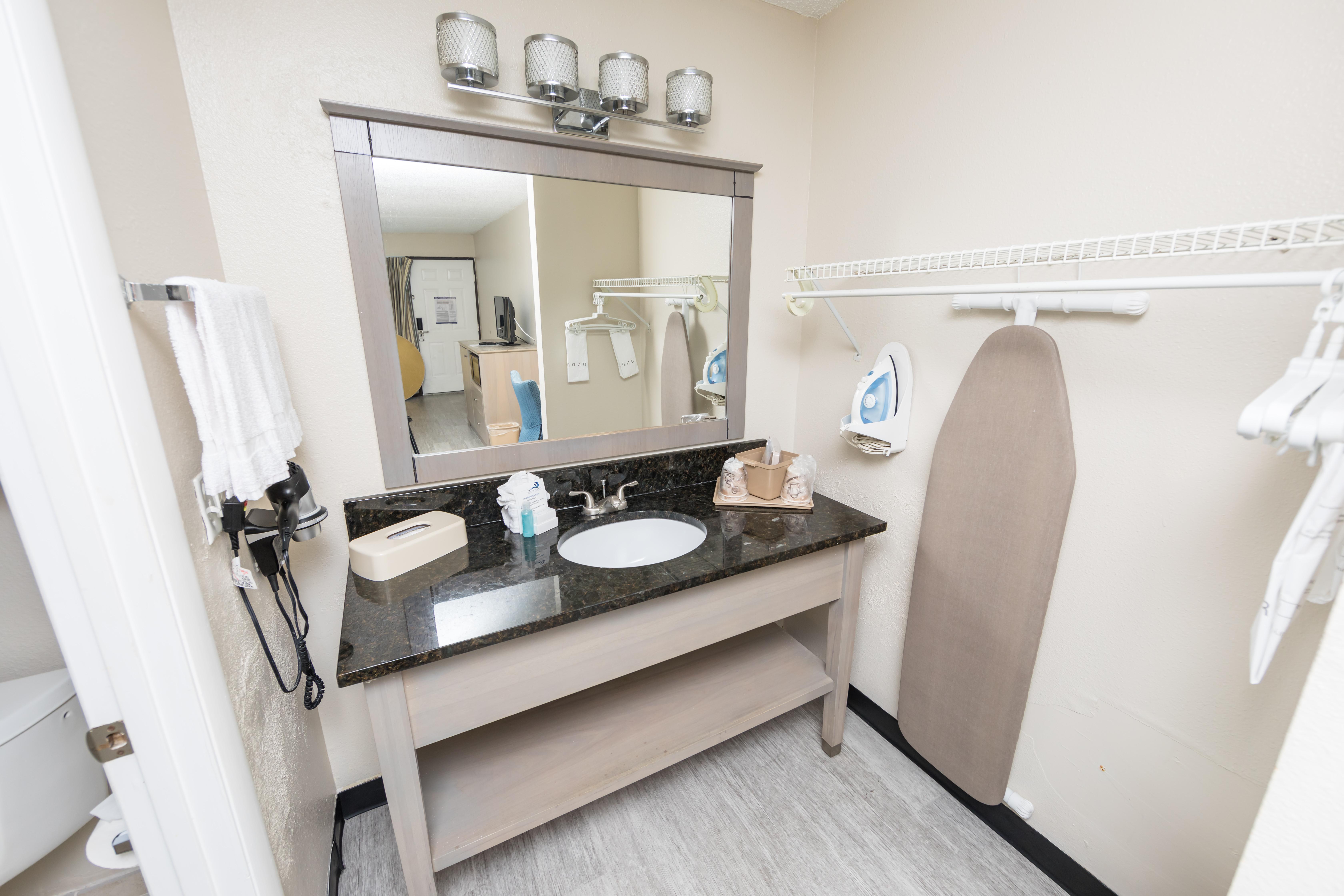 Ocean Coast Hotel Double Room Bathroom and Amenities