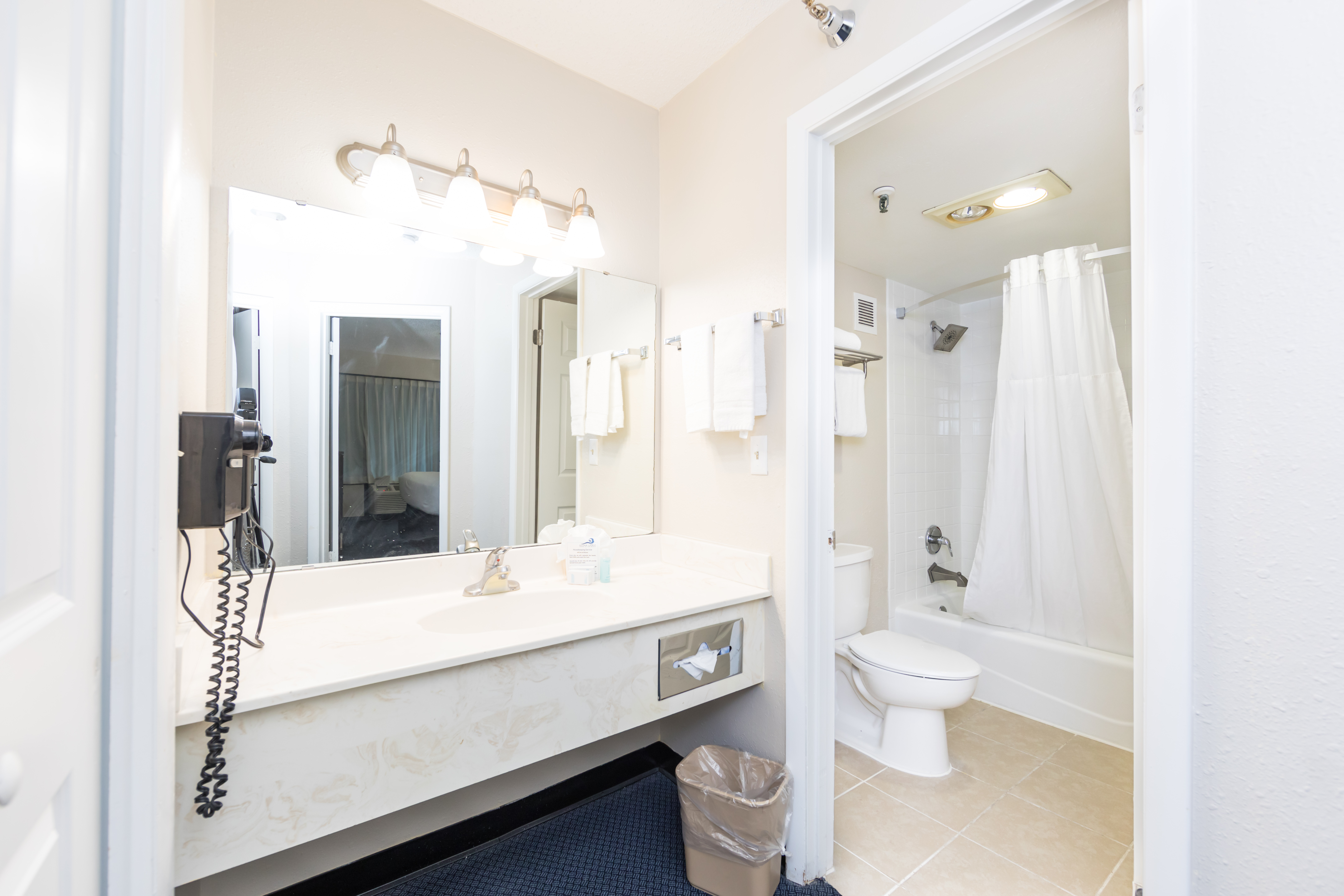 Ocean Coast Hotel Deluxe Suite Bathroom and Amenities