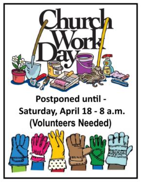 Church Work Day Ad