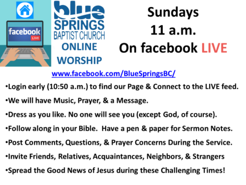 Online Worship Ad