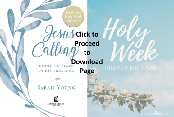 Holy Week Prayer Resources