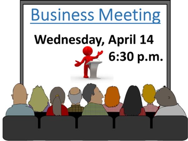 Business Meeting – April 2021