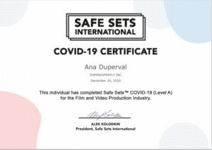 covid certificate ana duperval
