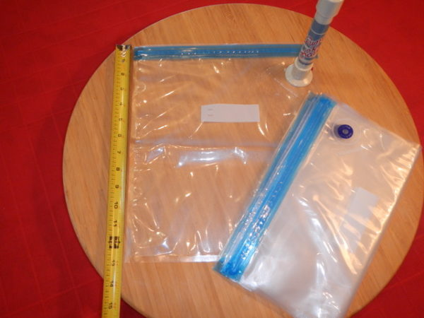 large check-valve vacuum bags