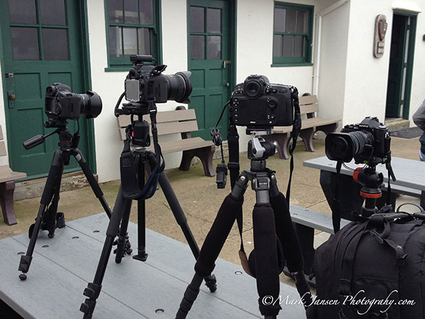 Solid tripods are essential for landscape photography