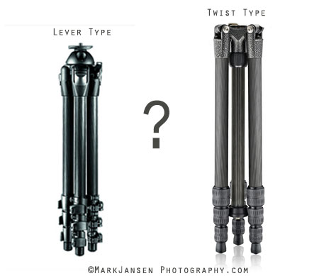 lever lock or twist lock tripod legs