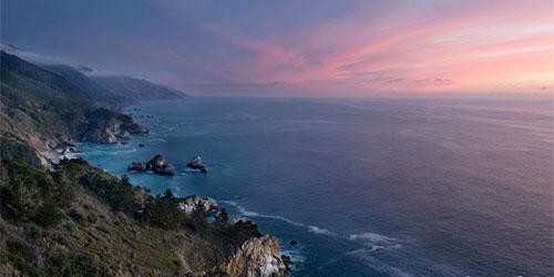 Big Sur Pink Sunset