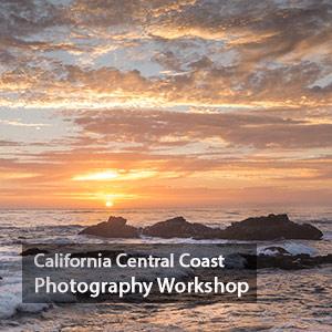 Central Coast CA Sunset photography workshop