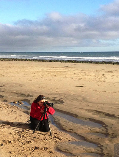 Donna during our Private Photography workshop in Ventura, CA