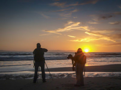 Mark Jansen of Jansen Photo Expeditions instructing and client in Ventura California