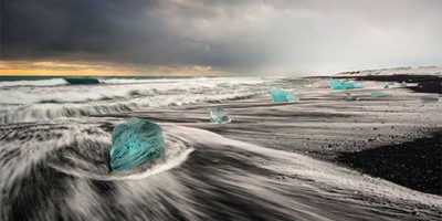Diamond Beach Iceland Sunset