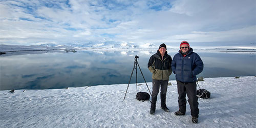 Mark and Snoori in Iceland
