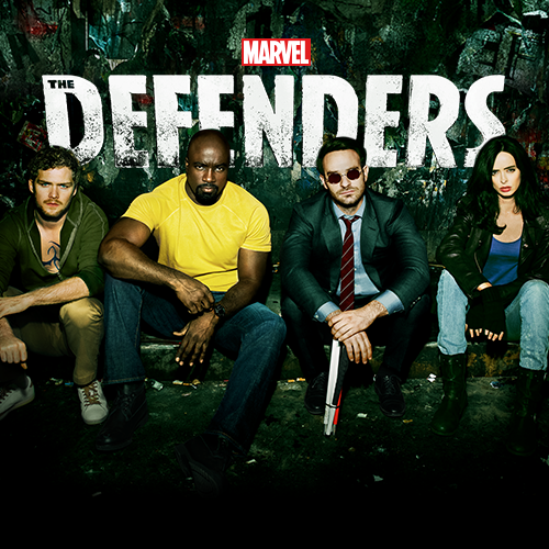 Photo of Marvel's superhero group, The Defenders