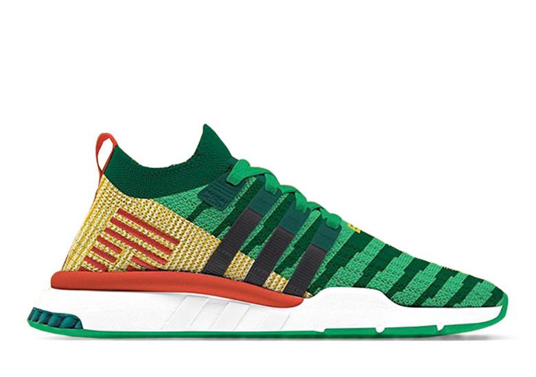 DBZ Adidas collab Shenron shoe image