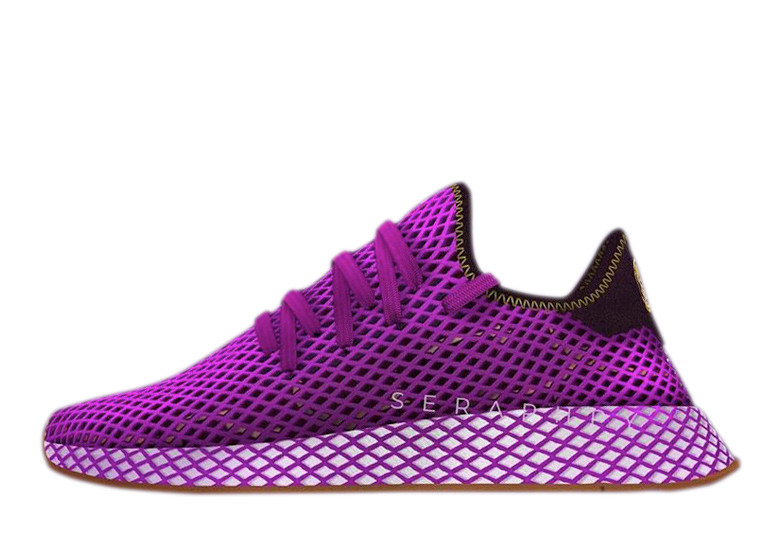 Purple Son Gohan Adidas DBZ collab shoes picture