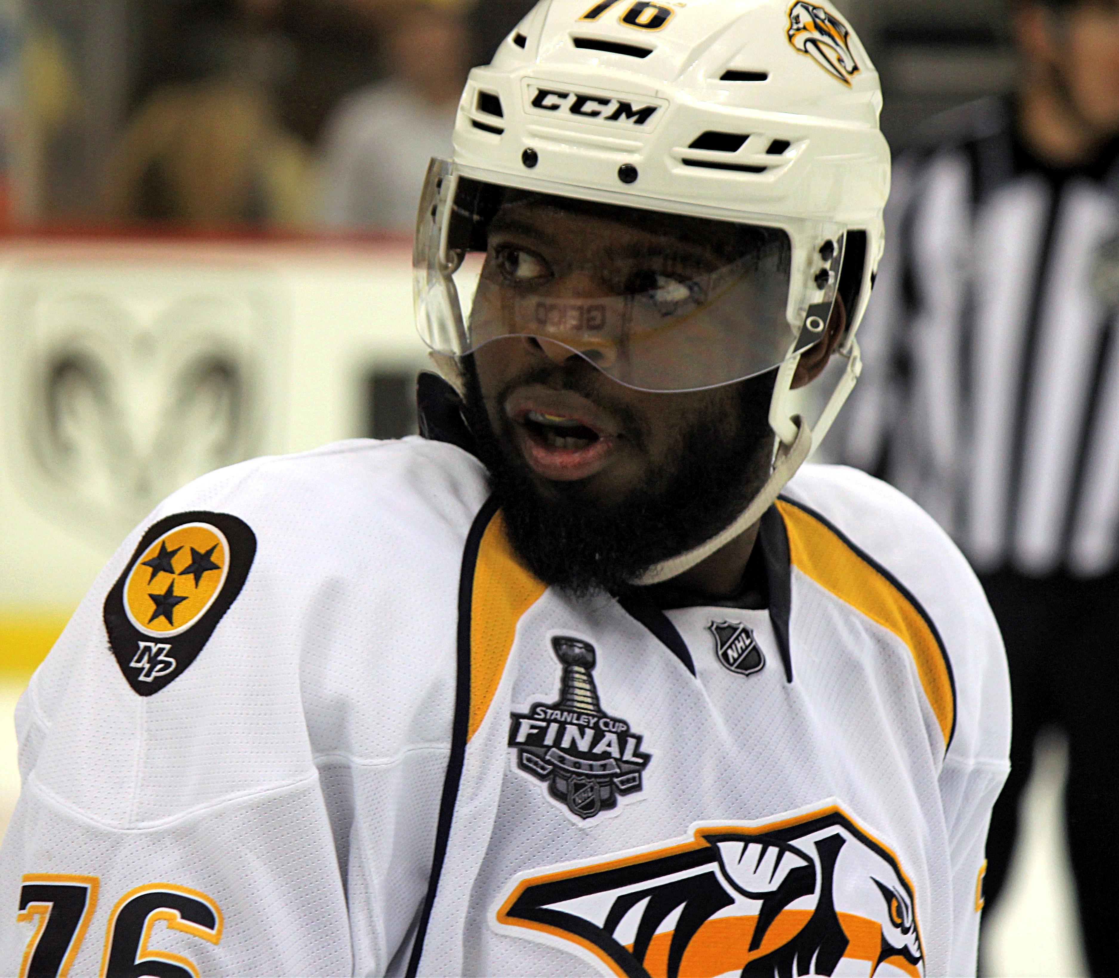 Nashville Predators Hockey Player PK Subban
