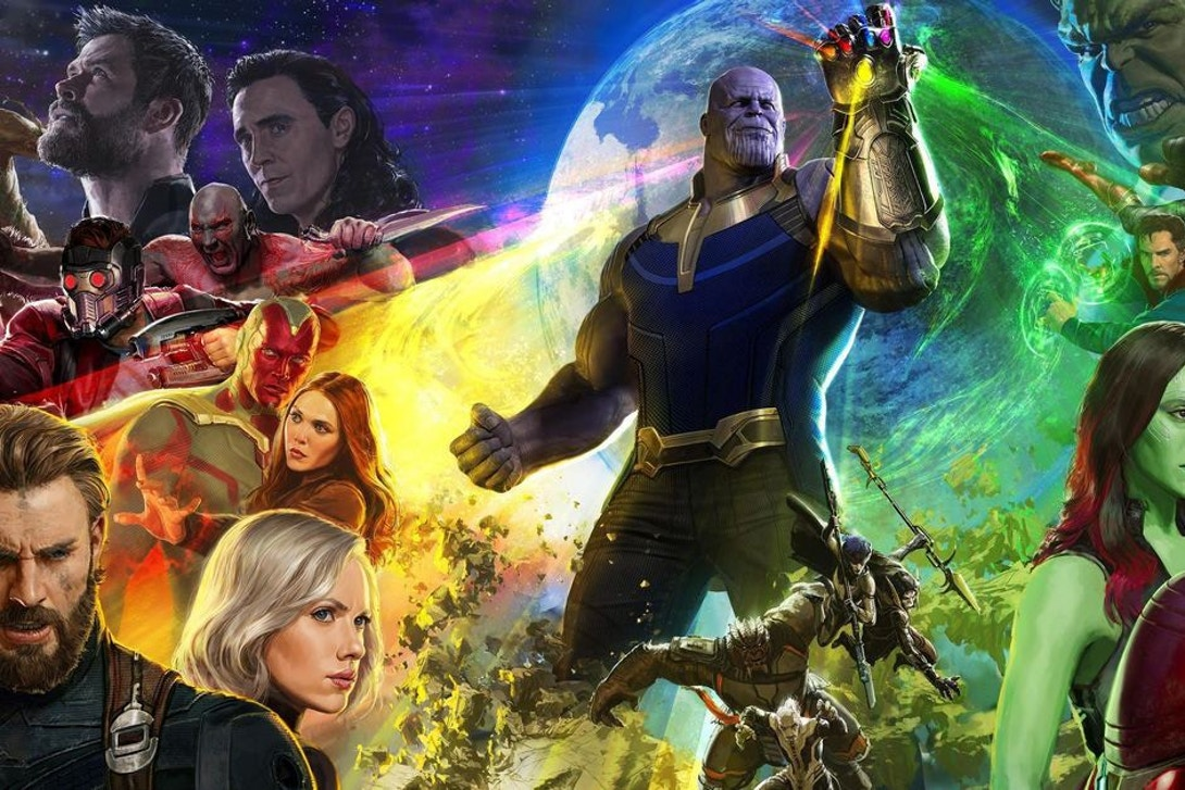 Movie poster style image for Avengers: Infinity War