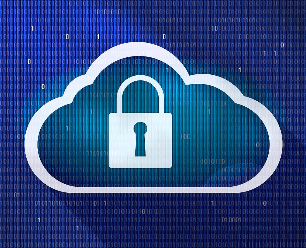 Lock in cloud image to represent secure internet