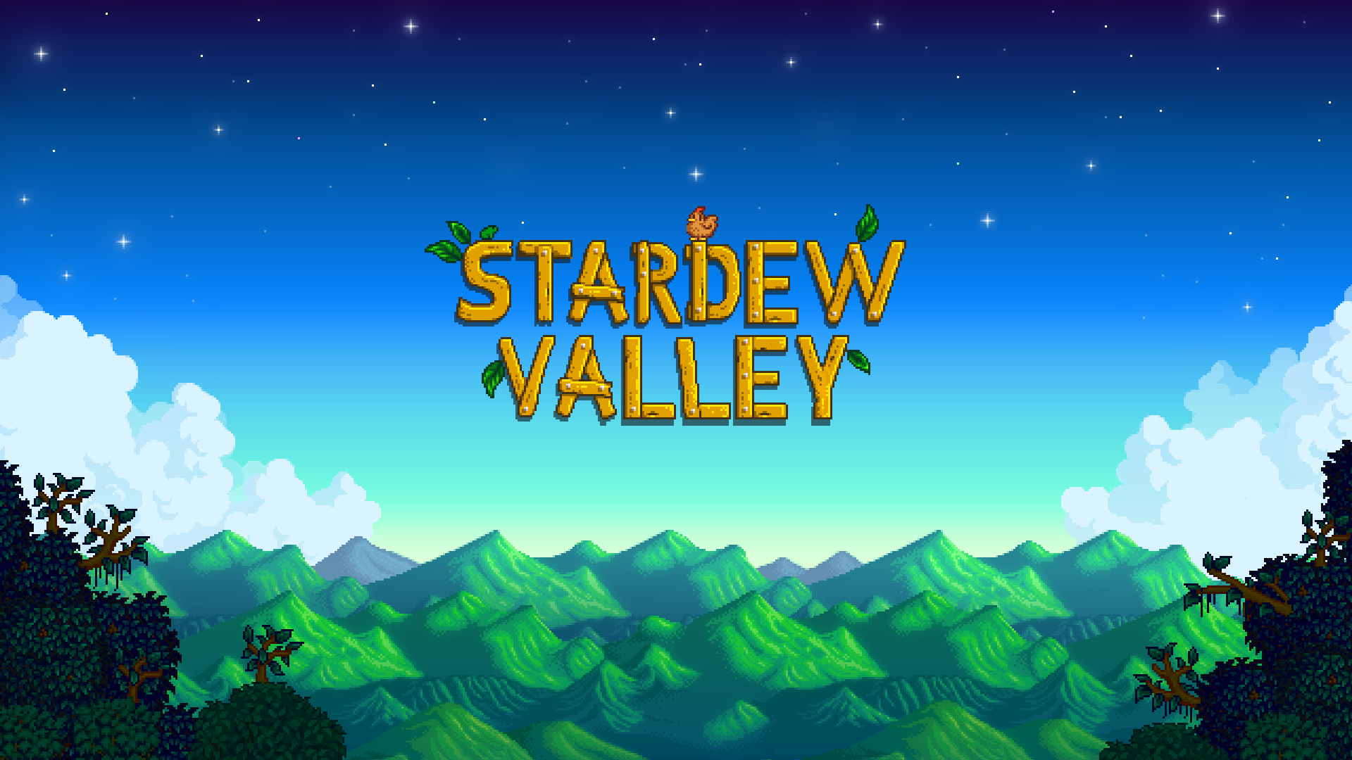 Stardeew Valley video game title screen
