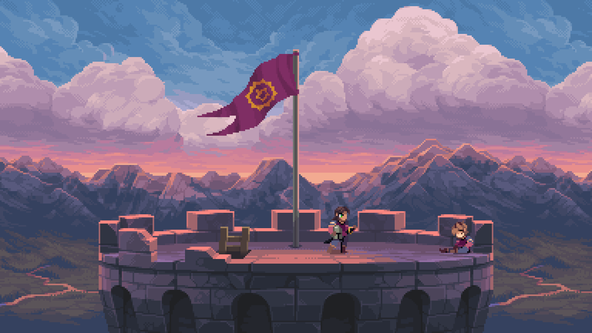 Intro scene to the Chasm video game