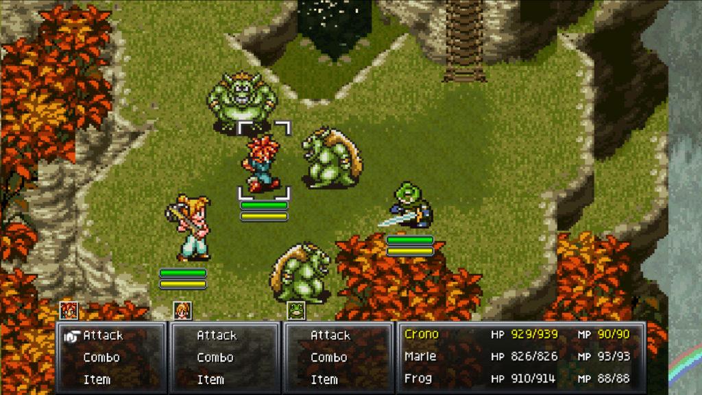 Chrono Trigger 600 AD battle scene