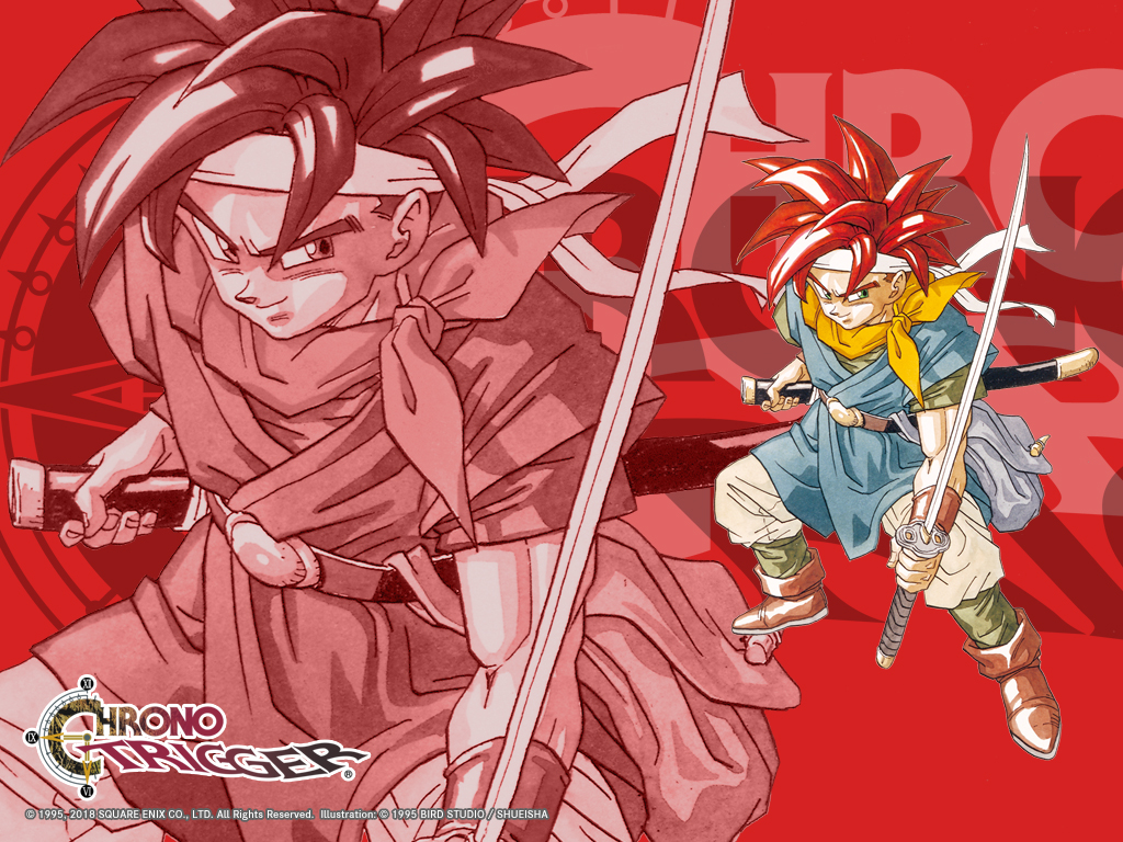 Chrono Trigger wallpaper featuring the character Crono