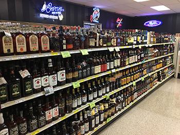 liquor aisle