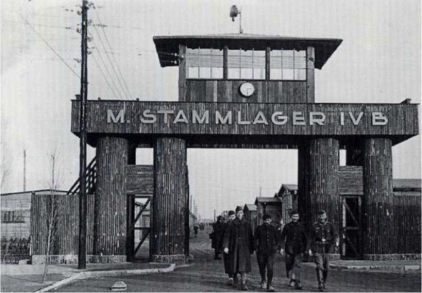 Main gate to Stalag IVB POW camp
